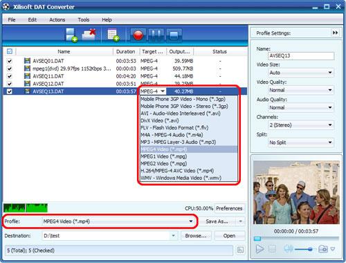 Xilisoft DAT Converter, Convert DAT to AVI, DAT to AVI Converter