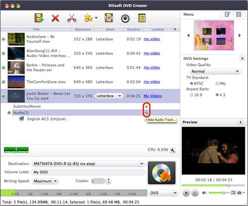 Select DVD menu