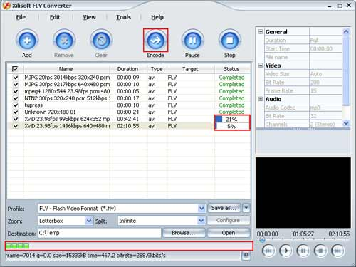 How to convert FLV with Xilisoft FLV Converter