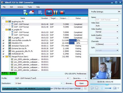 Xilisoft FLV to SWF Converter.