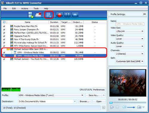 Xilisoft FLV to WMV Converter
