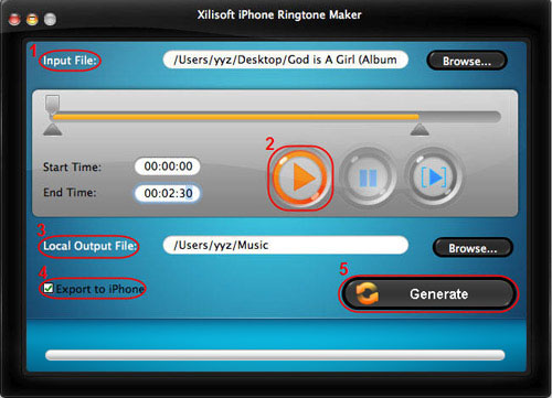 Create free iPhone ringtone for Mac