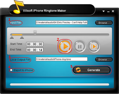 Create iPhone ringtone