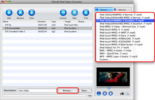 Convert videos to iPod on Mac, Mac convert videos to iPod, video to iPod converter on Mac