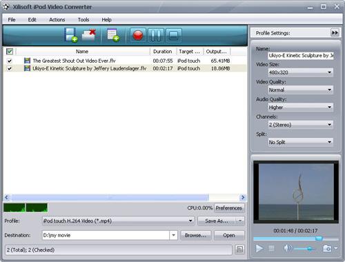 Convert FLV to iPod, iPod video converter