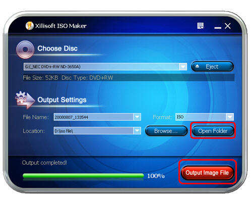 how to create iso image file