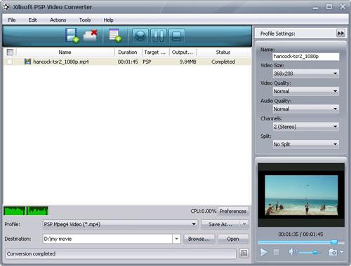 Convert HD to PSP, PSP video converter
