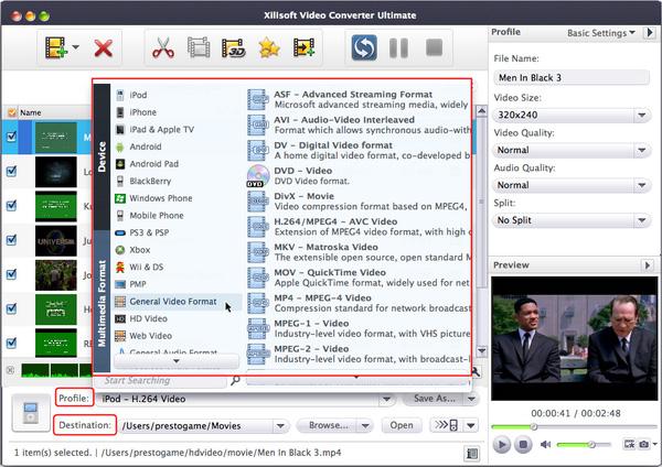 convert MP4 to AVI on Mac