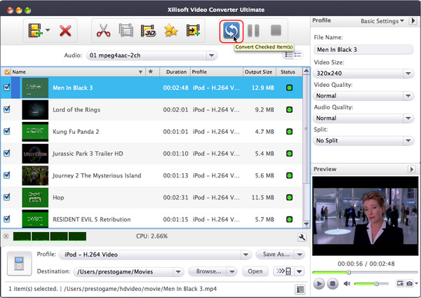 convert MP4 to MPEG on Mac