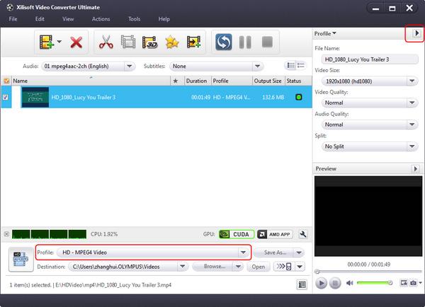 Convert HD video