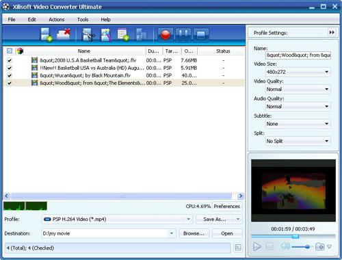 Convert FLV to PSP, FLV to PSP converter, video converter
