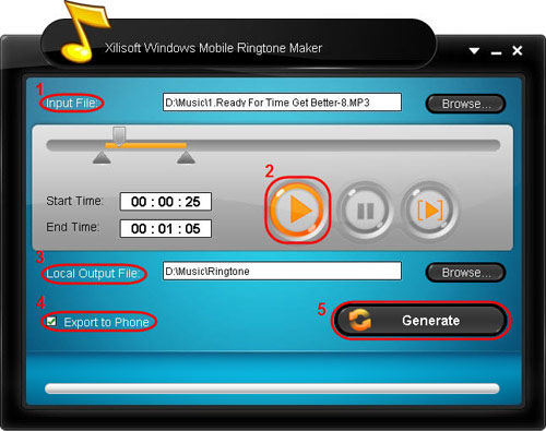 Xilisoft Windows Mobile Ringtone Maker