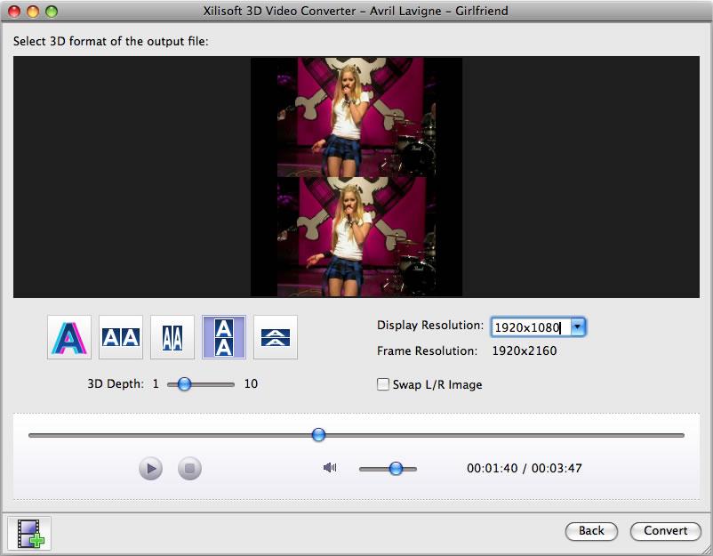 3D Video Converter for Mac