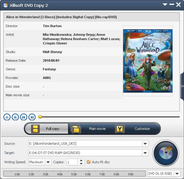 Xilisoft DVD Copy Express