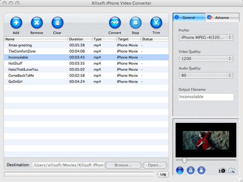 Xilisoft iPhone Video Converter for Mac - Mac iPhone video converter