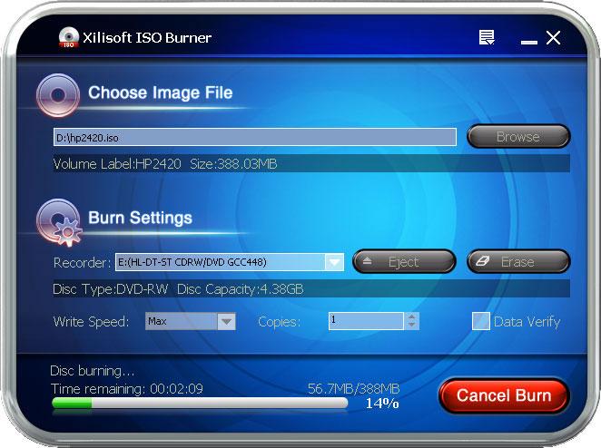 Xilisoft ISO Burner