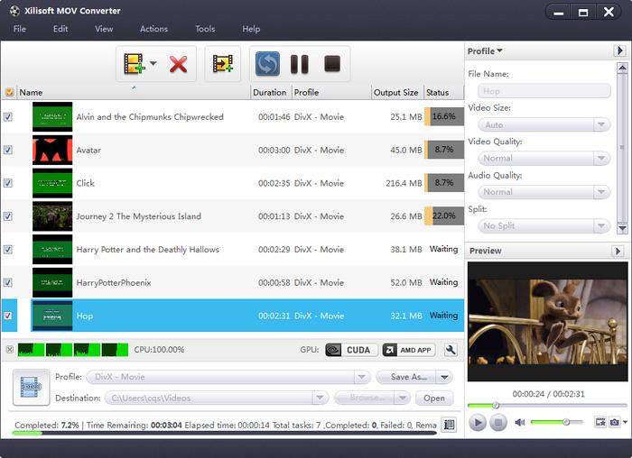 Xilisoft MOV Converter.