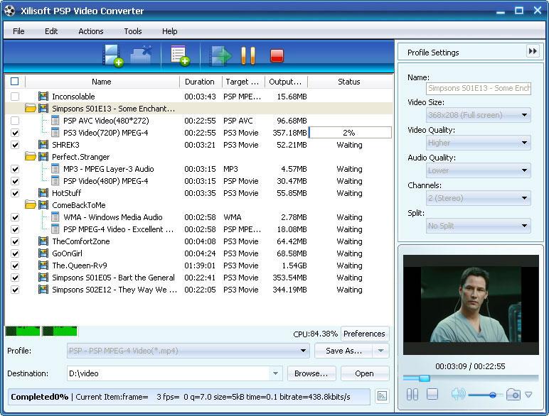 Xilisoft PSP Video Converter - PSP converter, video converter for PSP