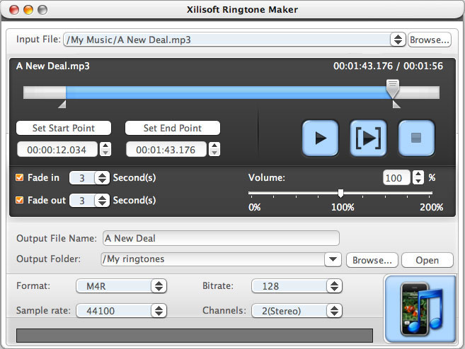 Xilisoft Ringtone Maker for Mac