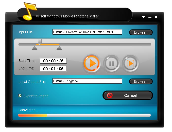 Windows Mobile Ringtone Maker